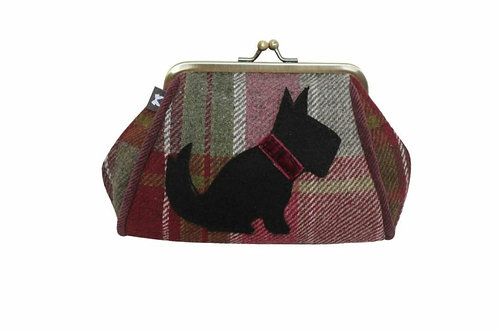 Plum dog tweed lara purse