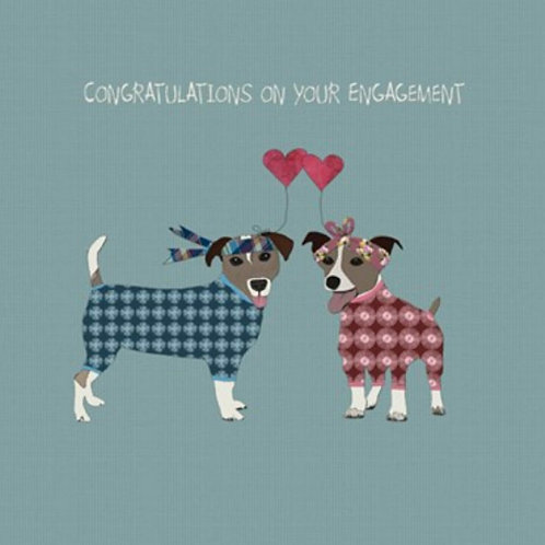 Congratulations on your engagement- greetings card