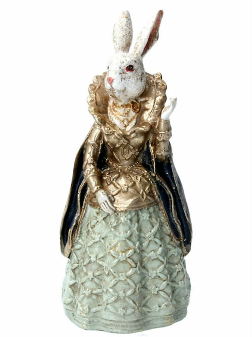 Bunny in dress mini ornament