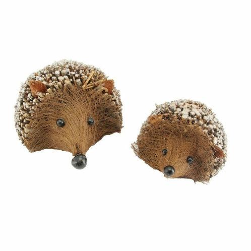 Pair of twig hedgehogs