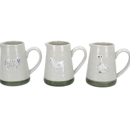 Animal mini jugs - 3 assorted (80418)