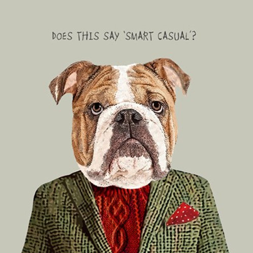 Does this say smart casual? - greetings card