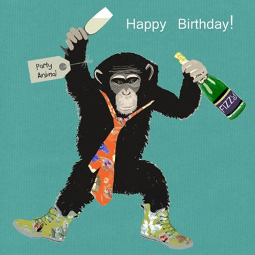 Happy Birthday party animal -Greeting Card