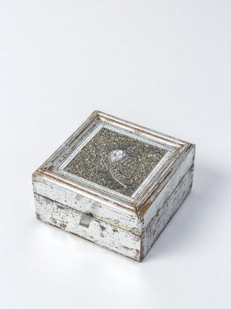 Sequined jewellery box