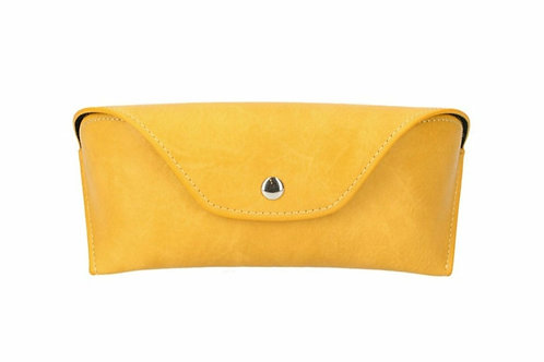 Leather effect glasses case - Mustard