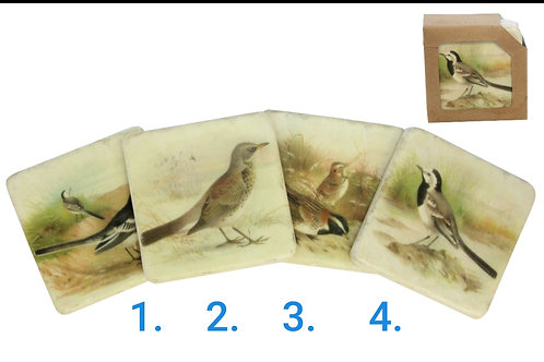 Bird resin coasters