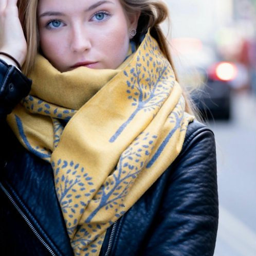 Mulberry leaves winter scarf