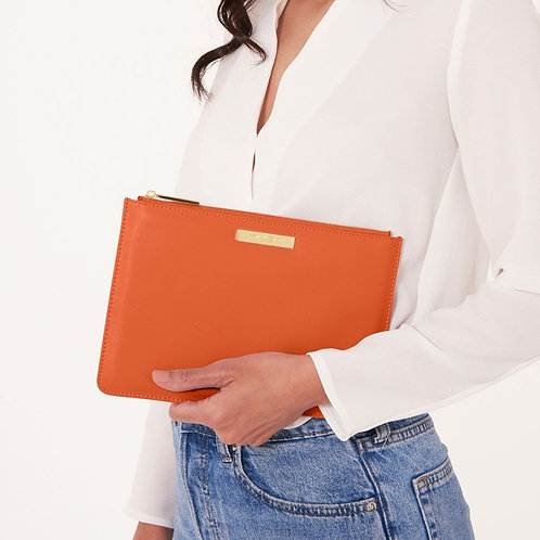 Pebble perfect pouch - Burnt orange