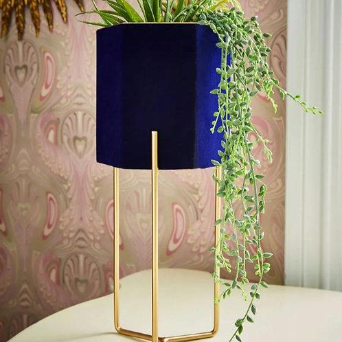 Luxury velvet planter on stand