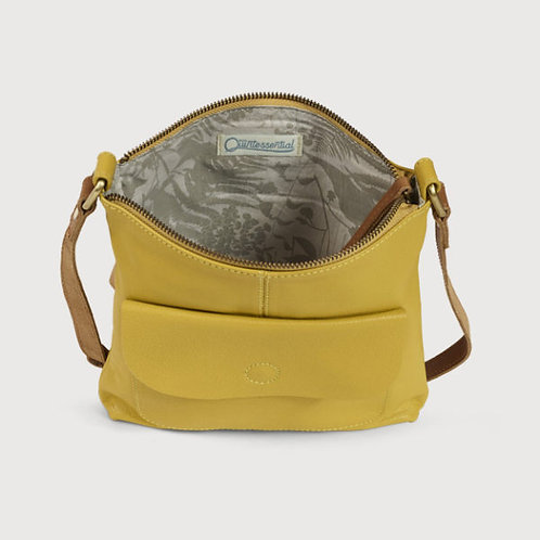 Leather cross body bag- Mustard