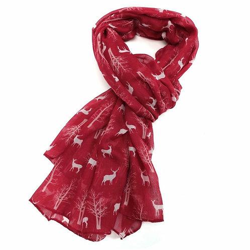 Winter deers scarf