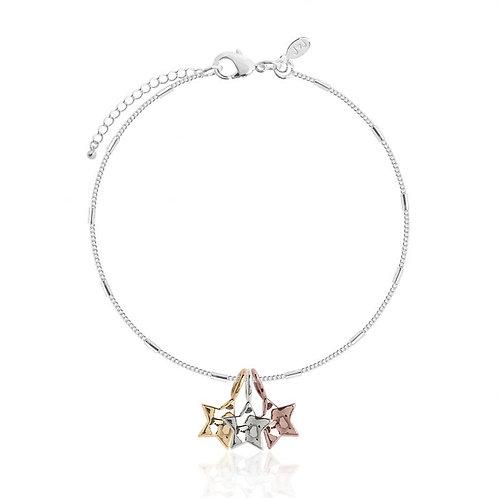 Florence Hammered Star Bracelet