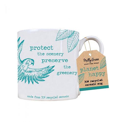 Rainforest 14oz mug - 30% recycled ceramic
