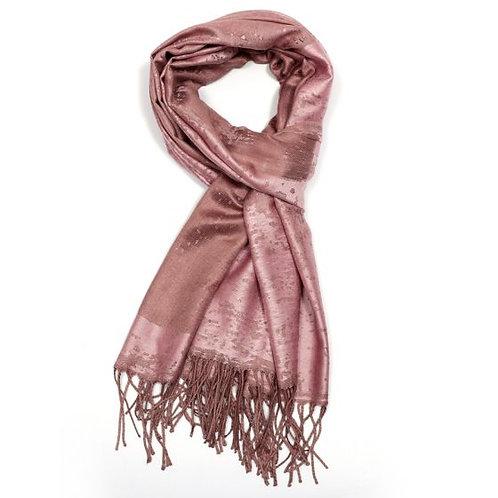 Bronze splatter scarf (pashmina)