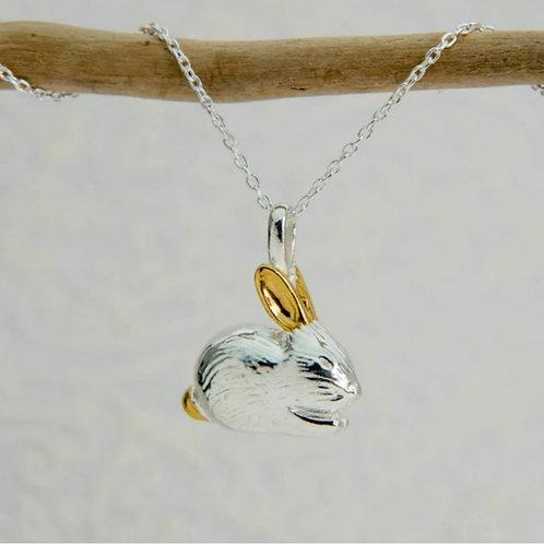 Sterling silver benjamin bunny necklace (BB100)