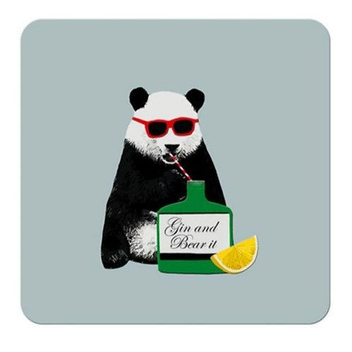 Gin and bear it - coaster