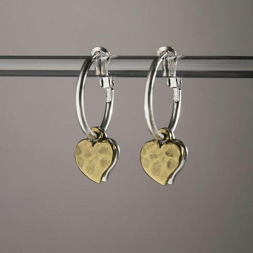 Mini hearts hoop earrings