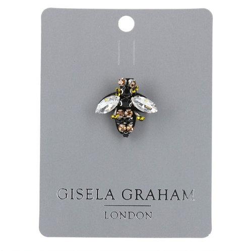 Mini bee beaded brooch
