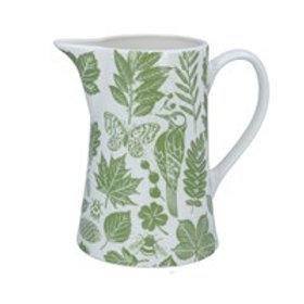 Green garden study jug
