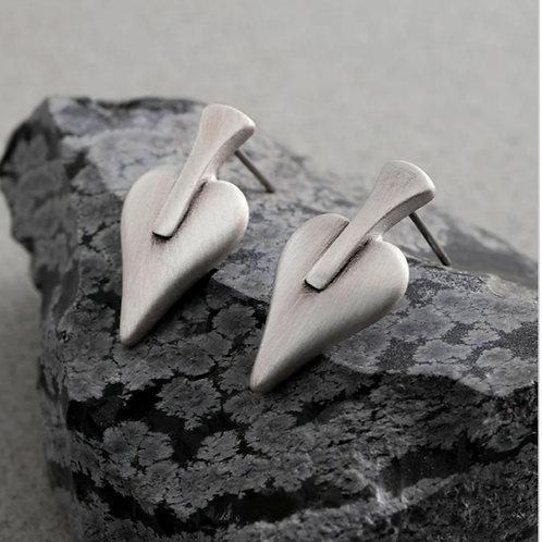 Signature heart stud earrings