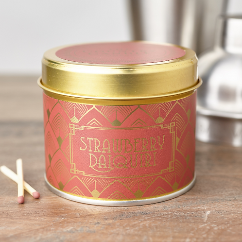Strawberry daiquiri tin candle- Happy hour collection