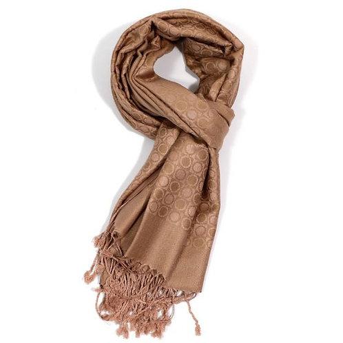 Gold circles scarf (paschmina)