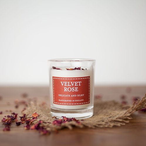 Velvet rose votive candle- Pastels collection