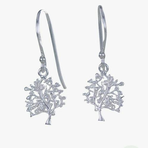 Sterling silver tree of life earrings (BB195)