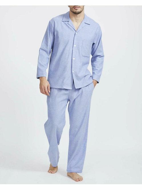 Staffordshire blue- brushed cotton men's pyjama set