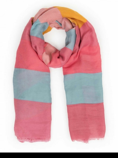 Block scarf - Candy mix