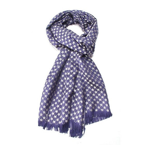 Silver stars scarf (paschmina)