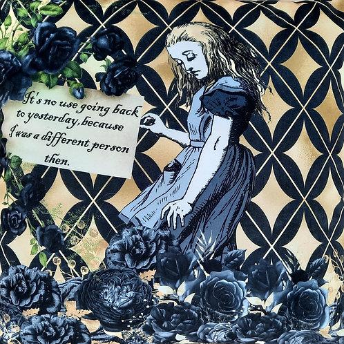 Alice In Wonderland Velvet Cushion