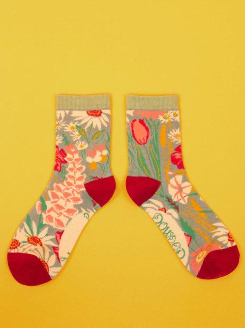 Country garden ankle socks ( 2 colourways)