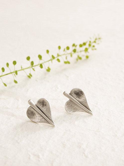 Mini Leaf Of Love Earrings (2 sizes)