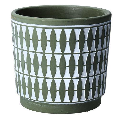 Green geo pot cover