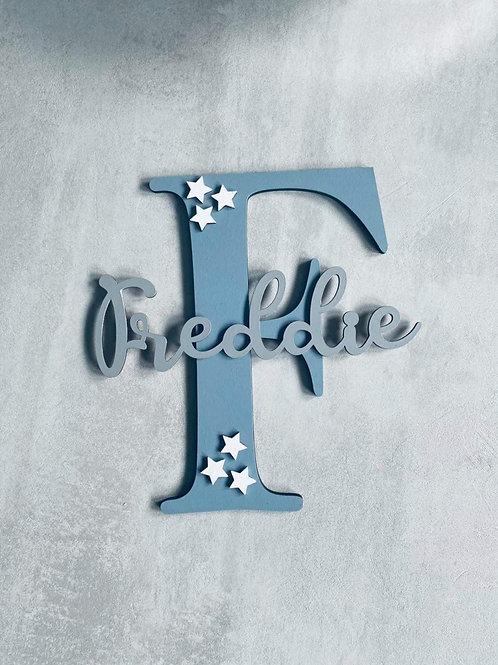 Personalised hanging letter & name