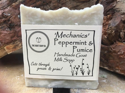 Dirty hands peppermint and pumice goat milk soap
