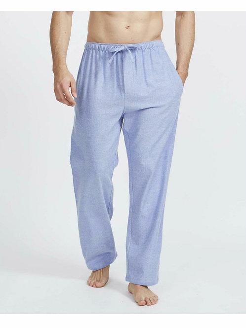 Staffordshire blue- brushed cotton men's pyjama trousers