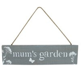 Mum's garden plaque