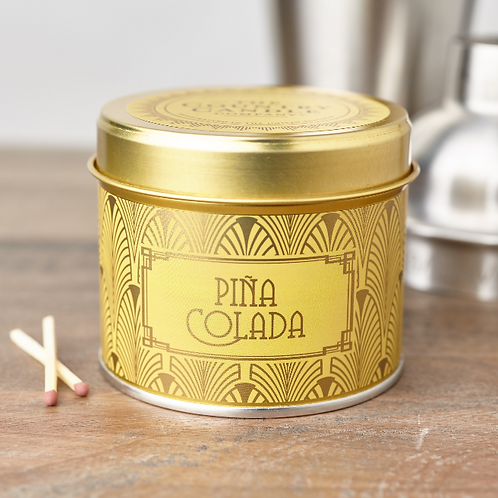 Pina colada tin candle- Happy hour collection