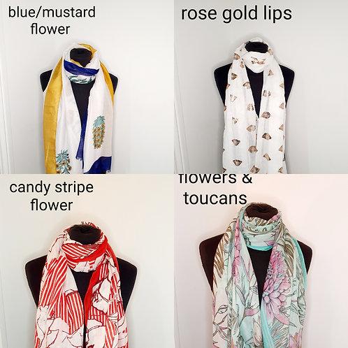 Assorted scarfs