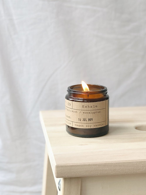 Exhale candle jar