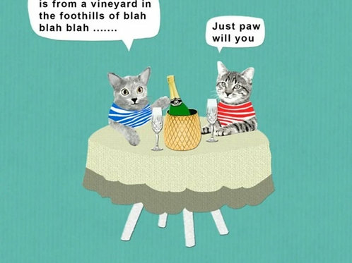 Cat- Just paw will you - greetings card