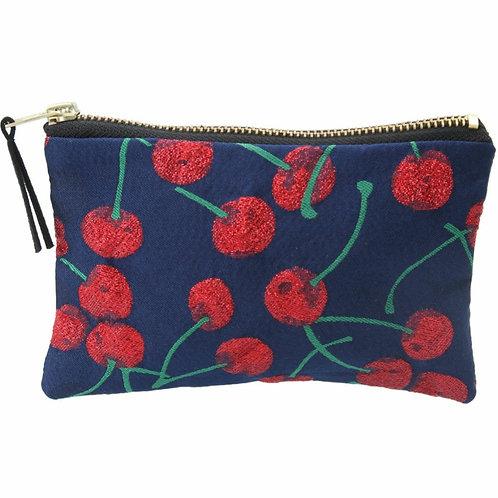 Cherry jacquard purse