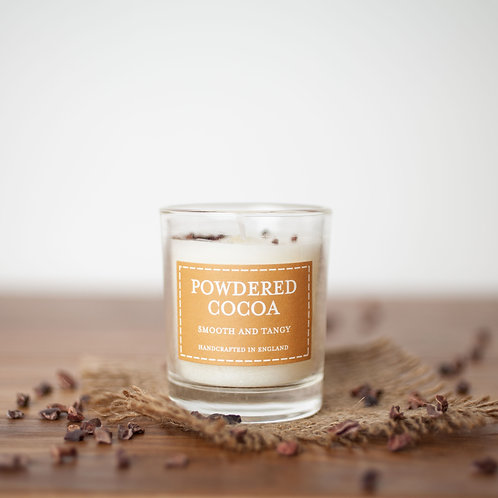 Powdered cocoa votive candle- Pastels collection