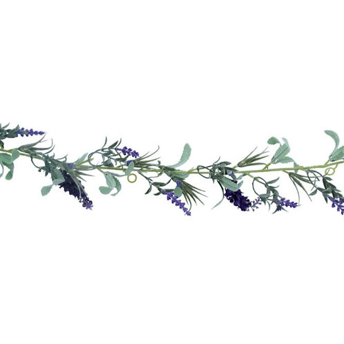 Faux lavender garland