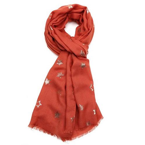 Rose gold star scarf