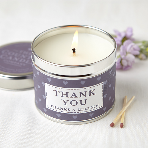 Thank you tin candle- sentiments collection