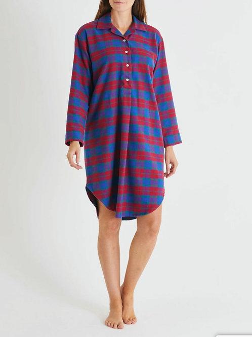 Bordeaux brushed cotton ladies nightshirt