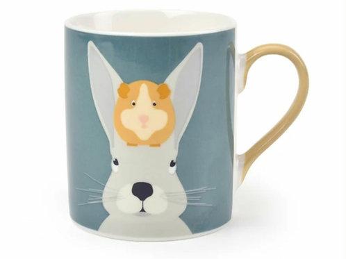 'Arthur & squeak' rabbit and guinea pig mug